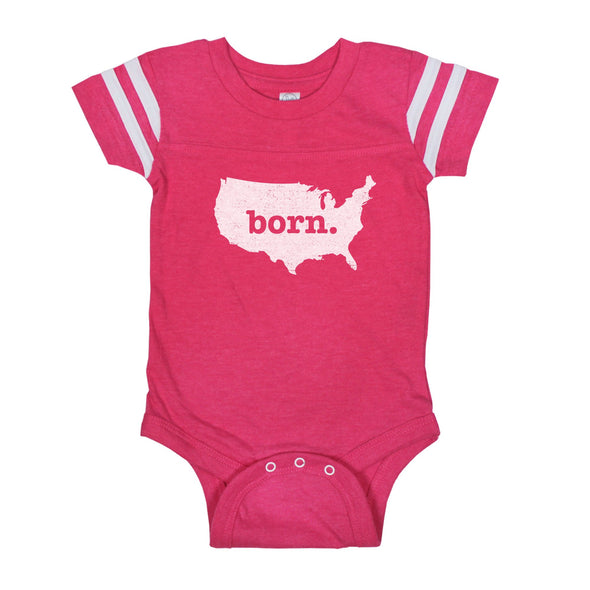 born. Football Baby Bodysuit - US
