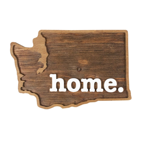 home. Wooden Plaques - Washington