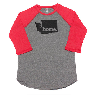 home. Men's Unisex Raglan - Washington