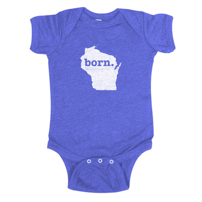 born. Baby Bodysuit - Wisconsin