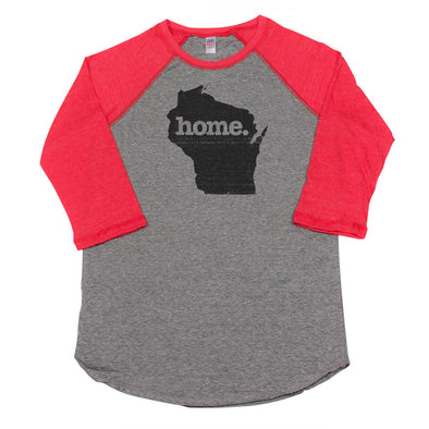 home. Men's Unisex Raglan - Wisconsin