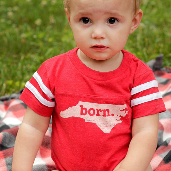 born. Football Baby Bodysuit - New Hampshire