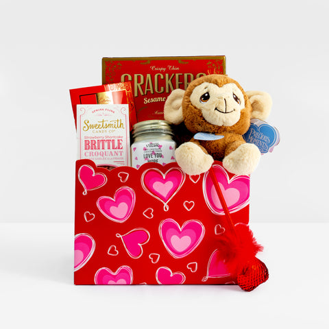 Custom Gift Basket: Hugs & Kisses!