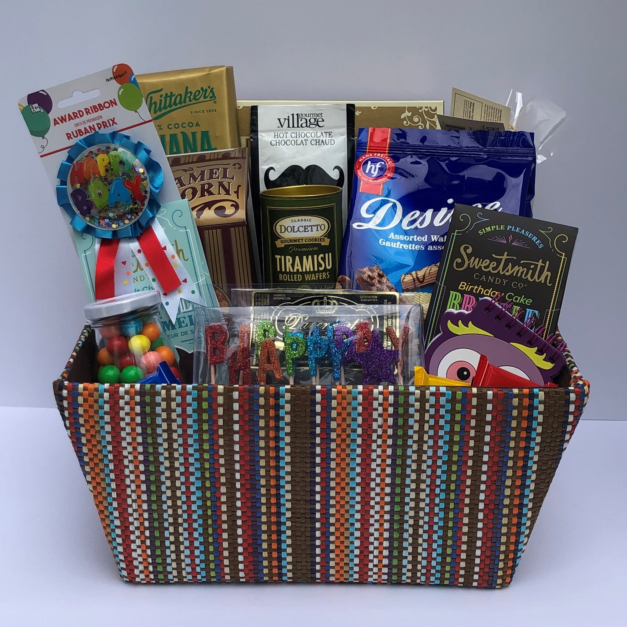 Birthday Gift Basket - Boy: Long life to you!