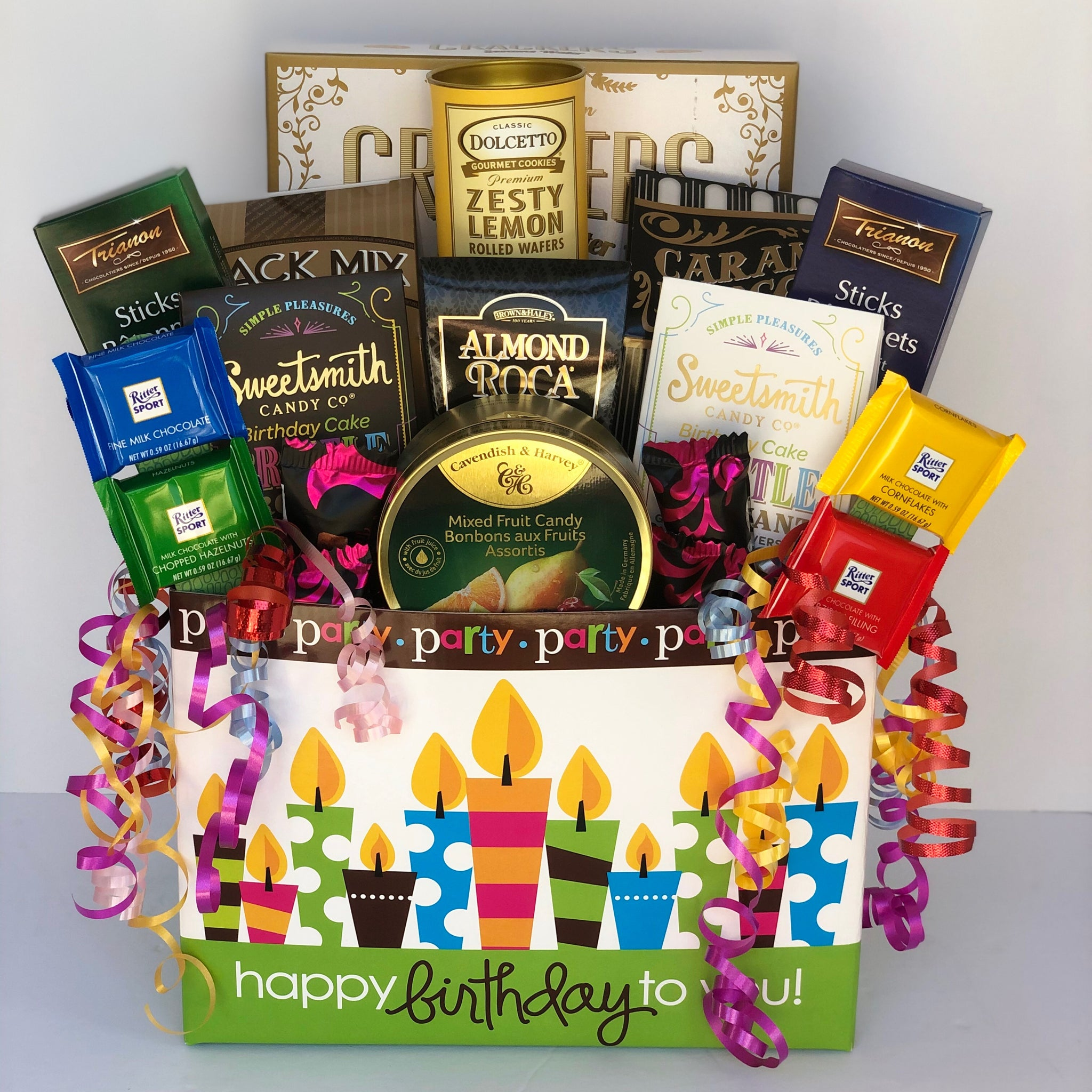 Birthday Gift Basket: It'sTime to Party