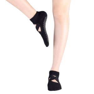 Yoga Socks Non Skid with Grips Pilates Ballet Barre Socks Dance, Barefoot Work out for Women
