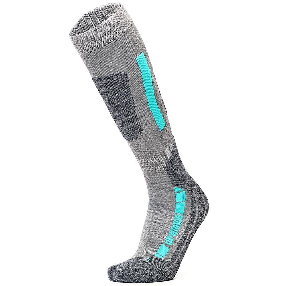 Ski Socks Merino Wool High Performance Warmth Snowboard Socks for Winter Outdoor Men's Women's Kids Cyan