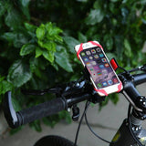 Support téléphone vélo silicone rouge pince