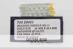 Beading Needle Gold Eye No. 11 - Japanese Quality - .53mmx33.3mm