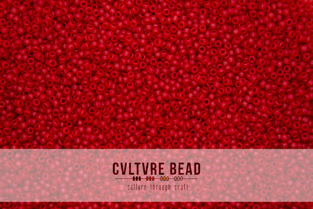 Toho Seedbead 15/0 - Transparent-Frosted Siam Ruby - 5.2 gram vial
