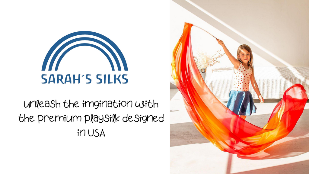 Sarah's Silk unleash the imagination with the premium playsilk designed in USA