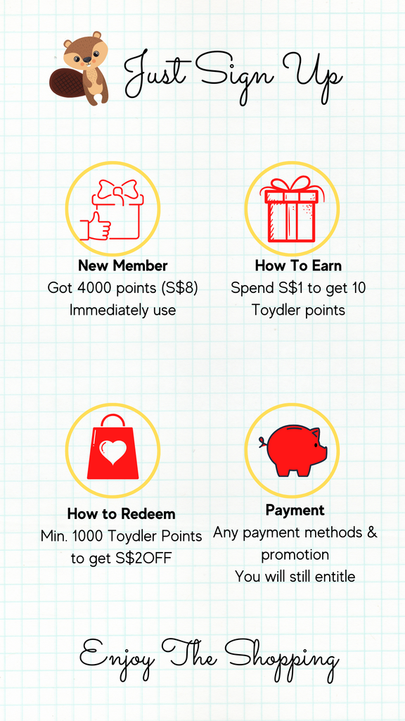 How to earn and redeem Toydler Reward program