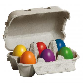 Eggs Coloured Sixpack - Toydler