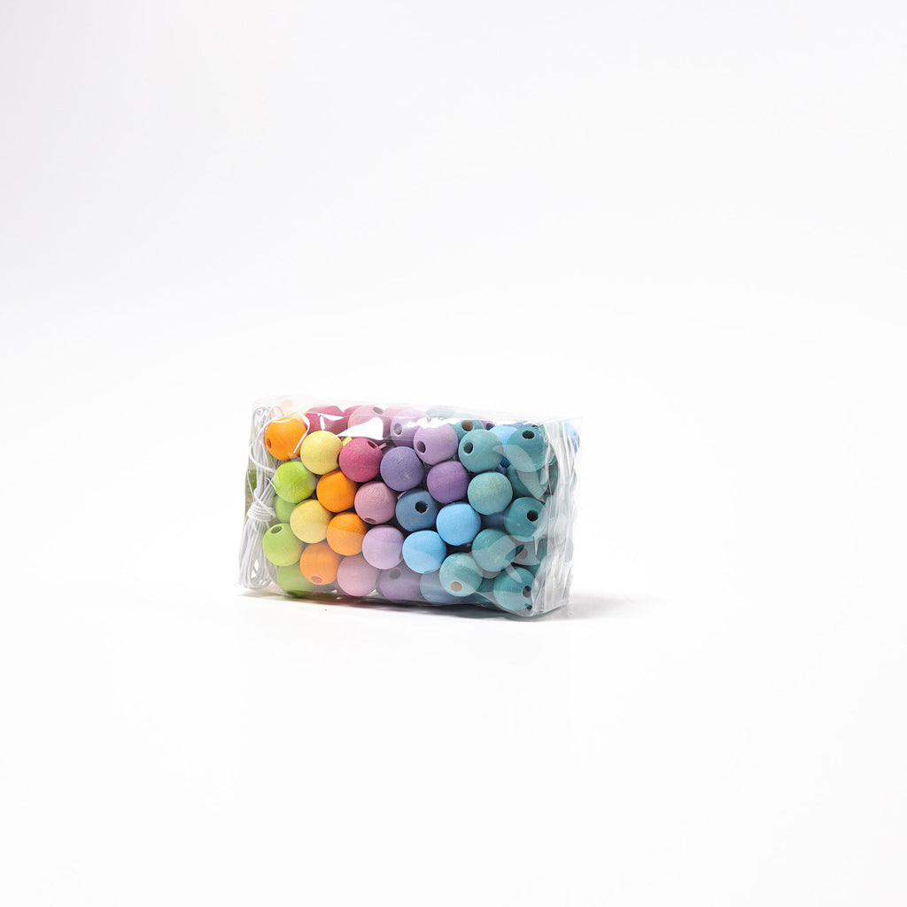 120 small pastel wooden beads - Toydler