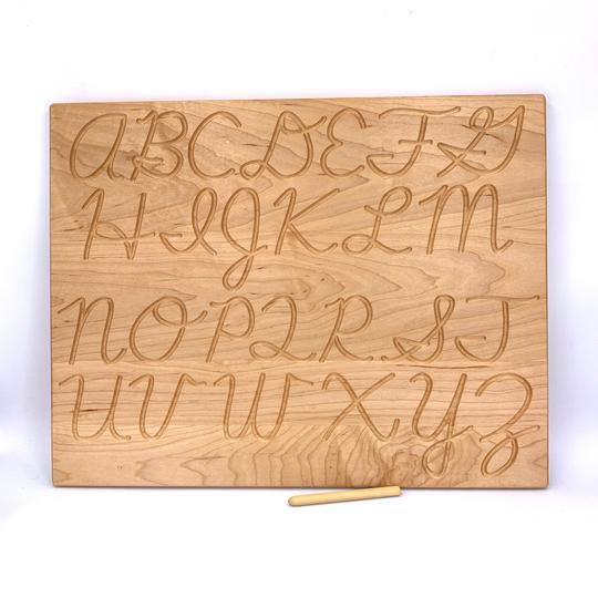 [Pre-Order End Oct/Nov] Cursive Alphabet Tracing Board - Reversible - Toydler
