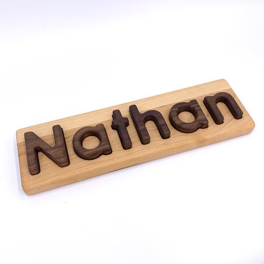 [Pre-Order end of Nov]] Name Puzzle - Walnut Letters - Toydler