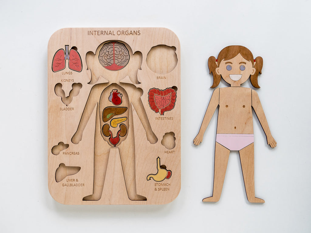 Human Body Puzzle - Girl - Toydler