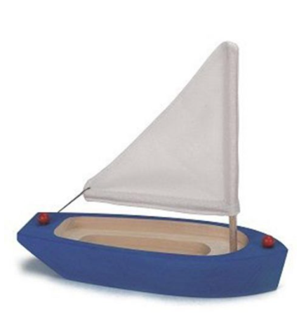Sailing Boat Wooden Blue - Toydler