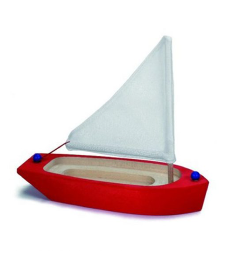 Sailing Boat Wooden Red