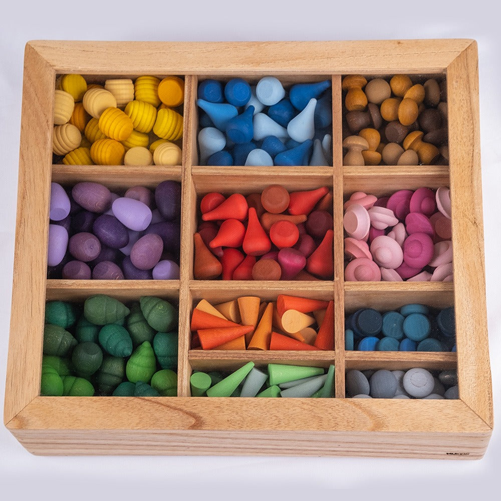 Mukids Loose Parts Board with Lid (Large) - Toydler
