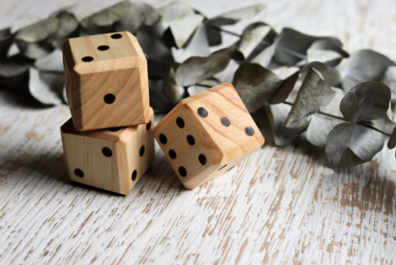 Chunky Wooden Dice - Toydler
