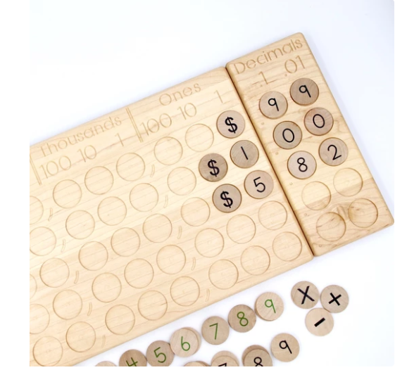 [Pre-Order End Oct/Nov]Place Value Board and Decimal - Toydler