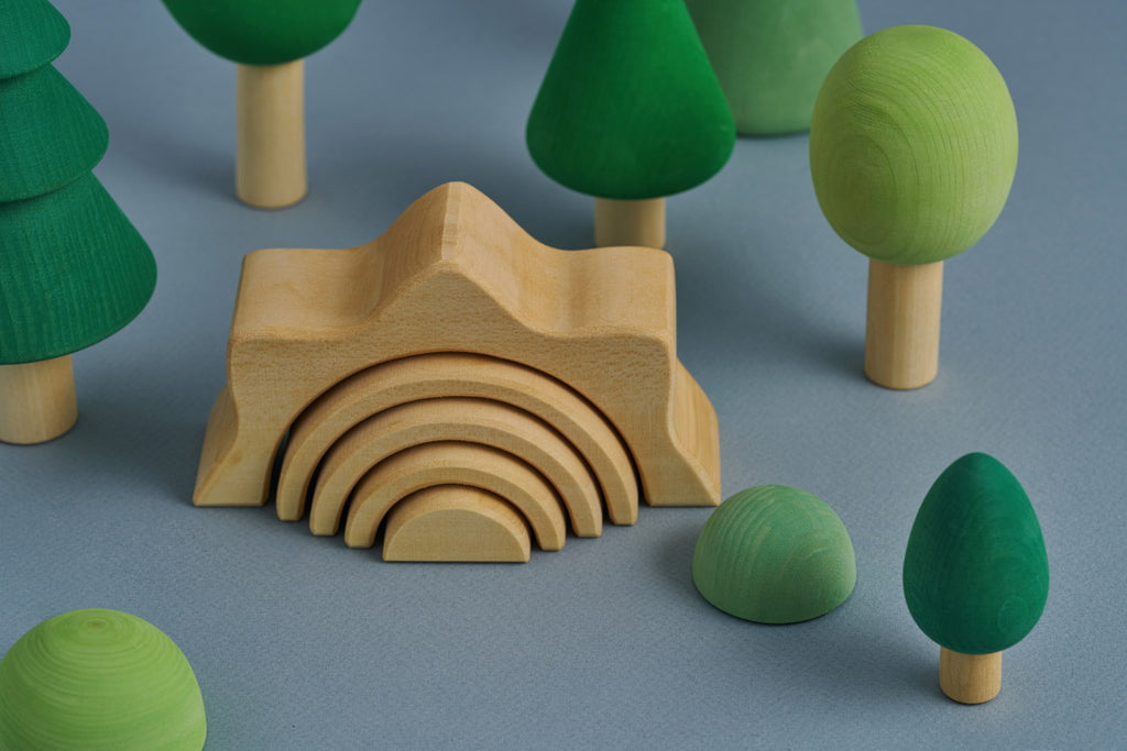Sun Small Arch Stacker Natural - Toydler