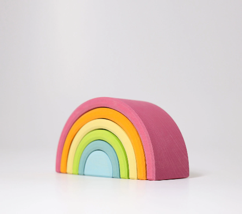 Medium Pastel Rainbow Tunnel 6 pieces - Toydler