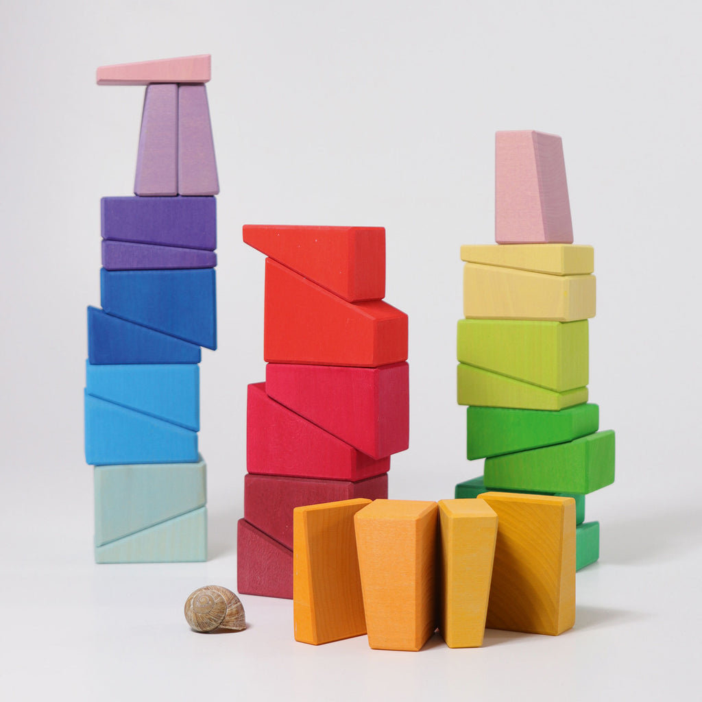 Building Set Sloping Blocks - Toydler