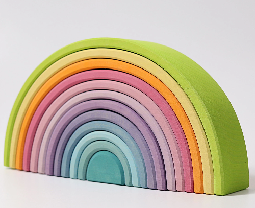 Large Pastel Rainbow - 12 Pieces - Toydler