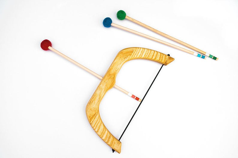 [Pre Order End Oct/Nov] Small Wooden Bow with 3 pcs Arrows - Toydler