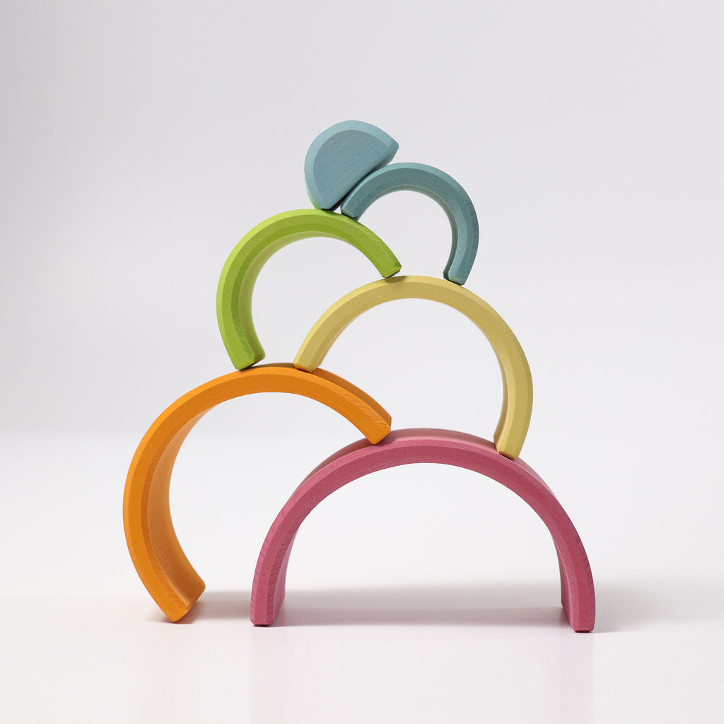 [Incoming November] Medium Pastel Rainbow Tunnel 6 pieces - Toydler
