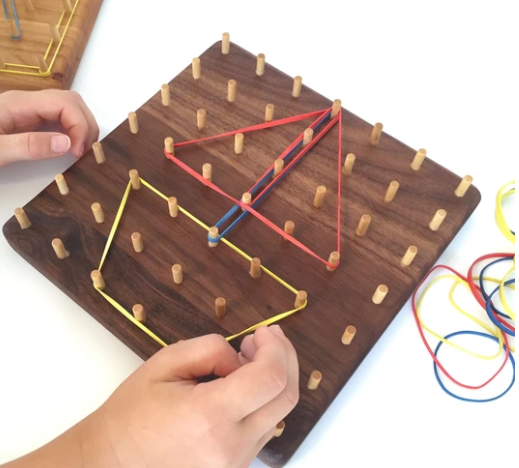 Geoboard - Small - Walnut - Toydler