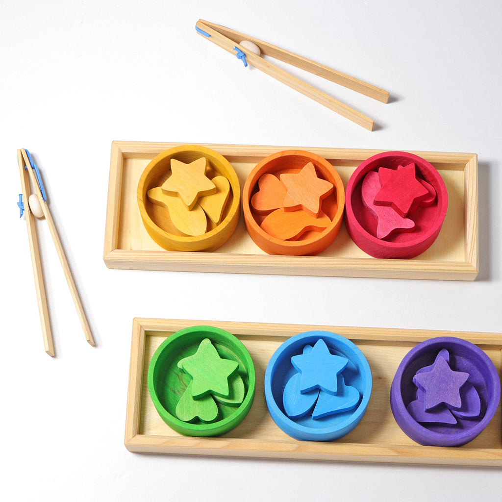GRIMM'S Sorting Game Rainbow Bowls - Toydler