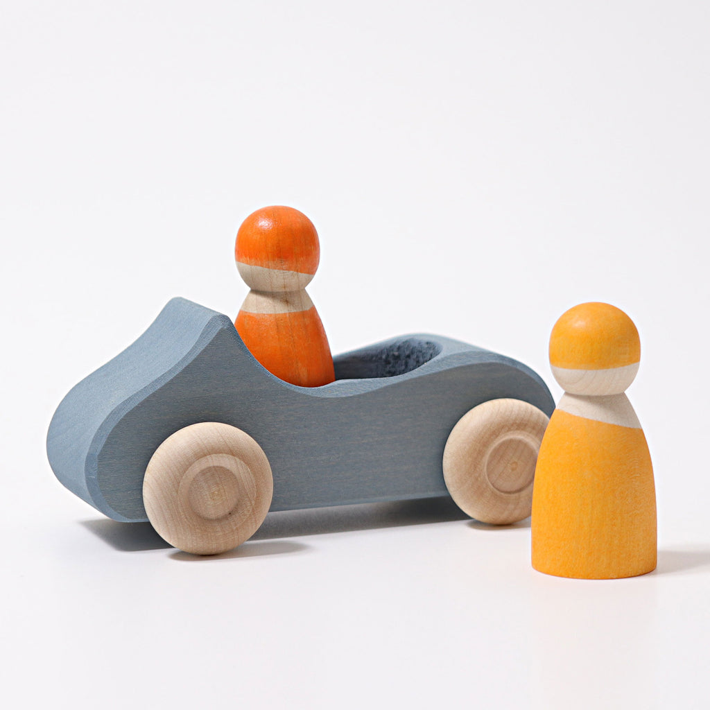 Grimm's Large Convertible Blue Car - Toydler