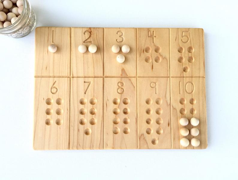 English 1-10 Number Board (Reversible) - Toydler