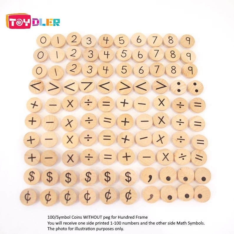 [Pre-Order End Oct/Nov] Small Coins - Alphabet/Symbol - Toydler