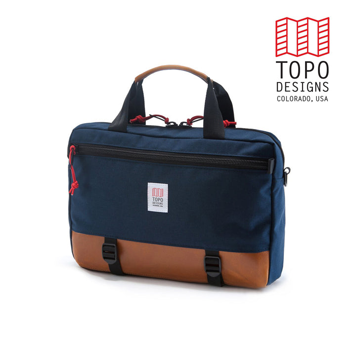 TOPO DESIGNS トポデザイン Commuter Briefcase  Navy/Brown Leather  通勤バッグ 3WAY