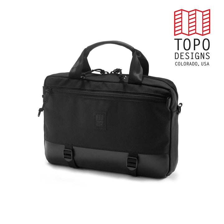 TOPO DESIGNS トポデザイン Commuter Briefcase  Ballistic Black/Black Leather 通勤バッグ 3WAY