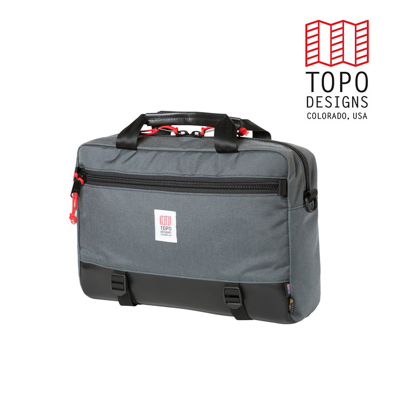 TOPO DESIGNS トポデザイン Commuter Briefcase  Charcoal/Black Leather  通勤バッグ 3WAY