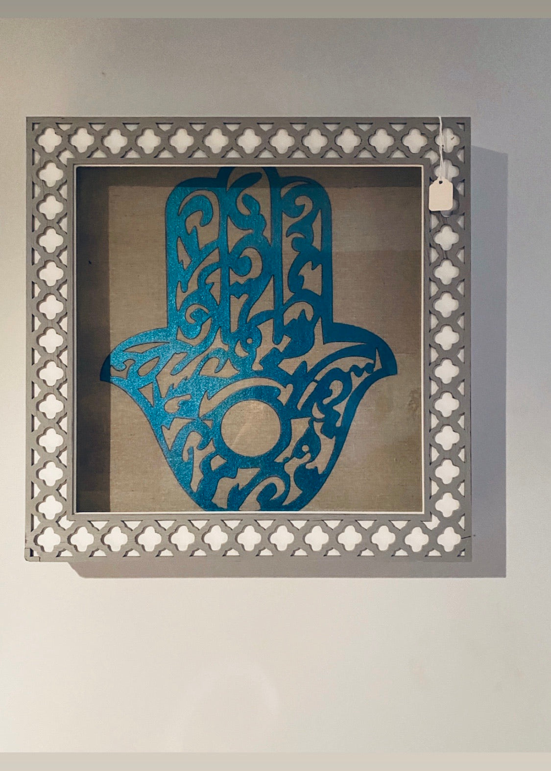 Framed glass wall art