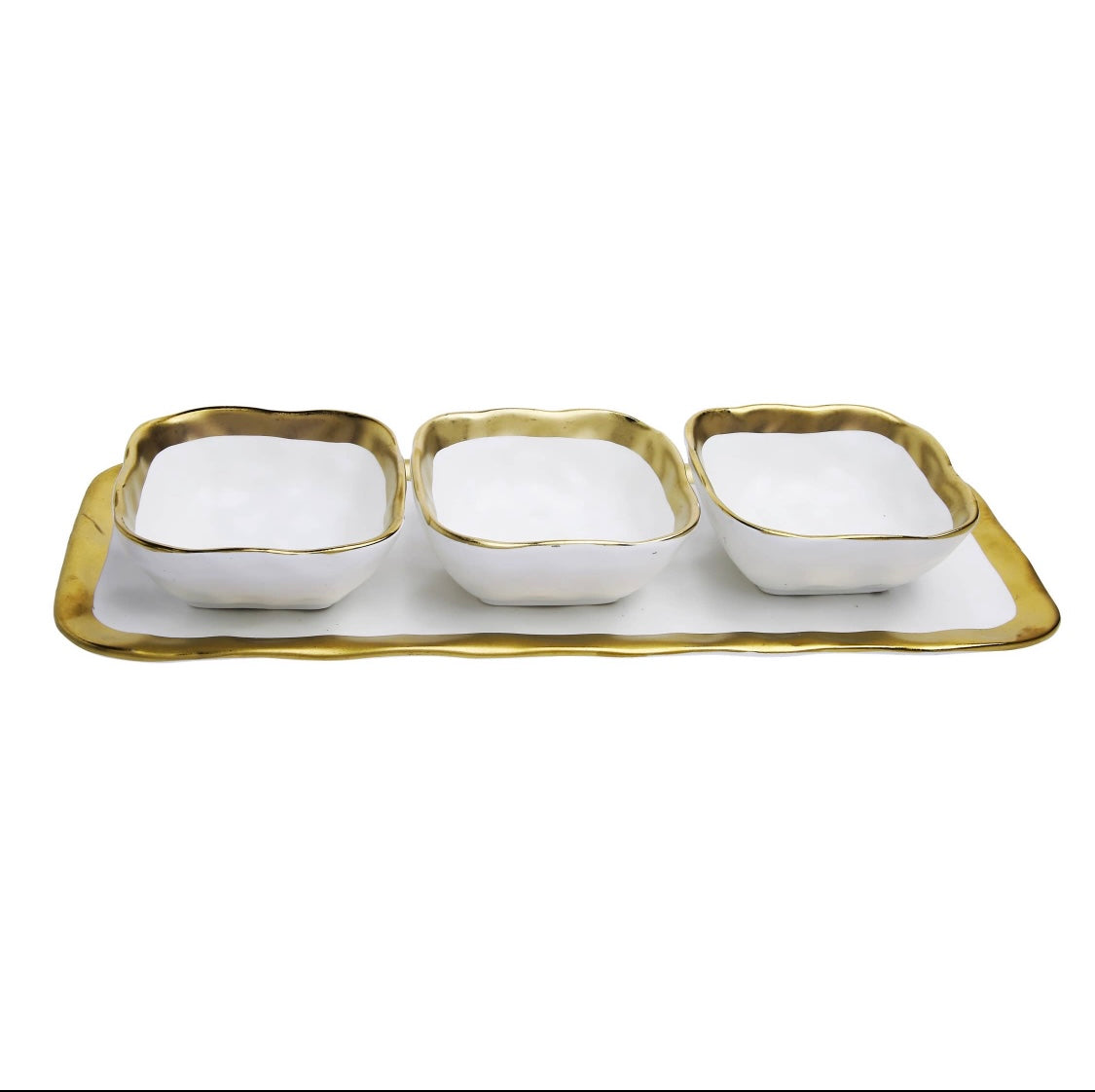3 Square Bowl with Tray Dish