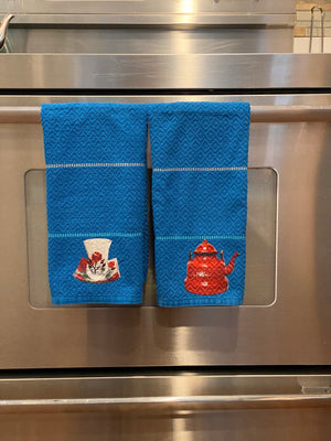 Kitchen towel, blue towel