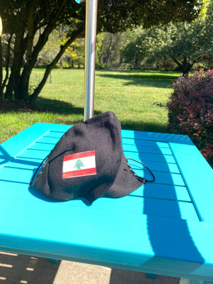 Lebanese flag design mask