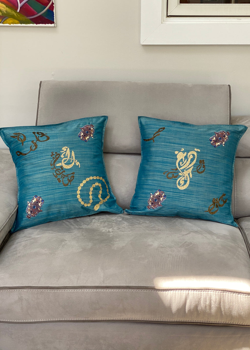 2pc  decorative cushion cover