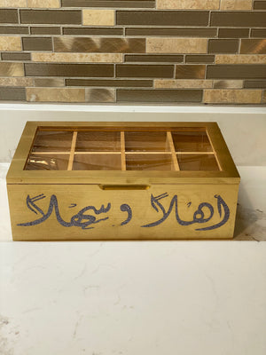 Tea box natural wood