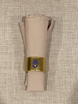 6 pcs Gold color Napkin Ring