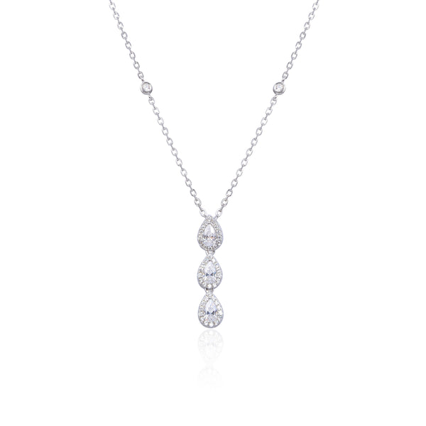 Collier 3 poires Sweet Pear - BLANC