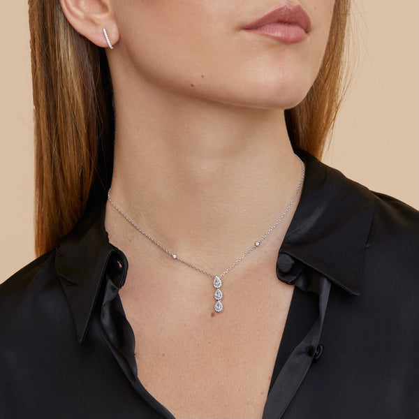Collier 3 poires Sweet Pear - ROSE