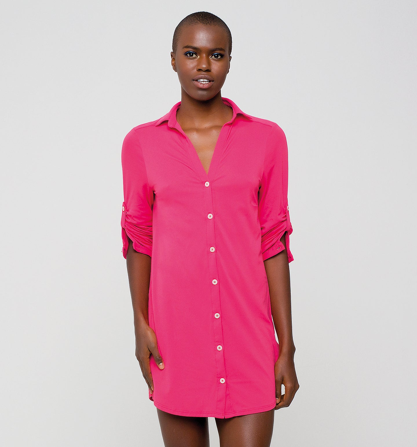 Copenhagen Fpu50+ Shirtdress Cherry Uv